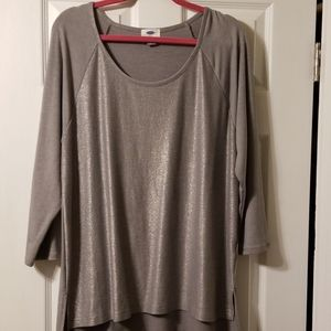 Women's Silver 3/4 Long Sleeve Tunic